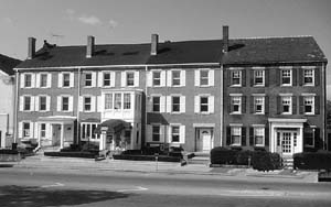 Federal houses adapted easily to row house design with changes unique to each owner.