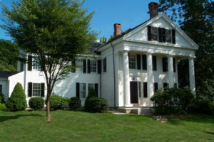 Antique Homes Greek Revival built by George Clapp and sited in Grafton, Massachusetts