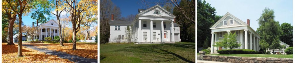 The Greek Revival style can be found in every part of the country.