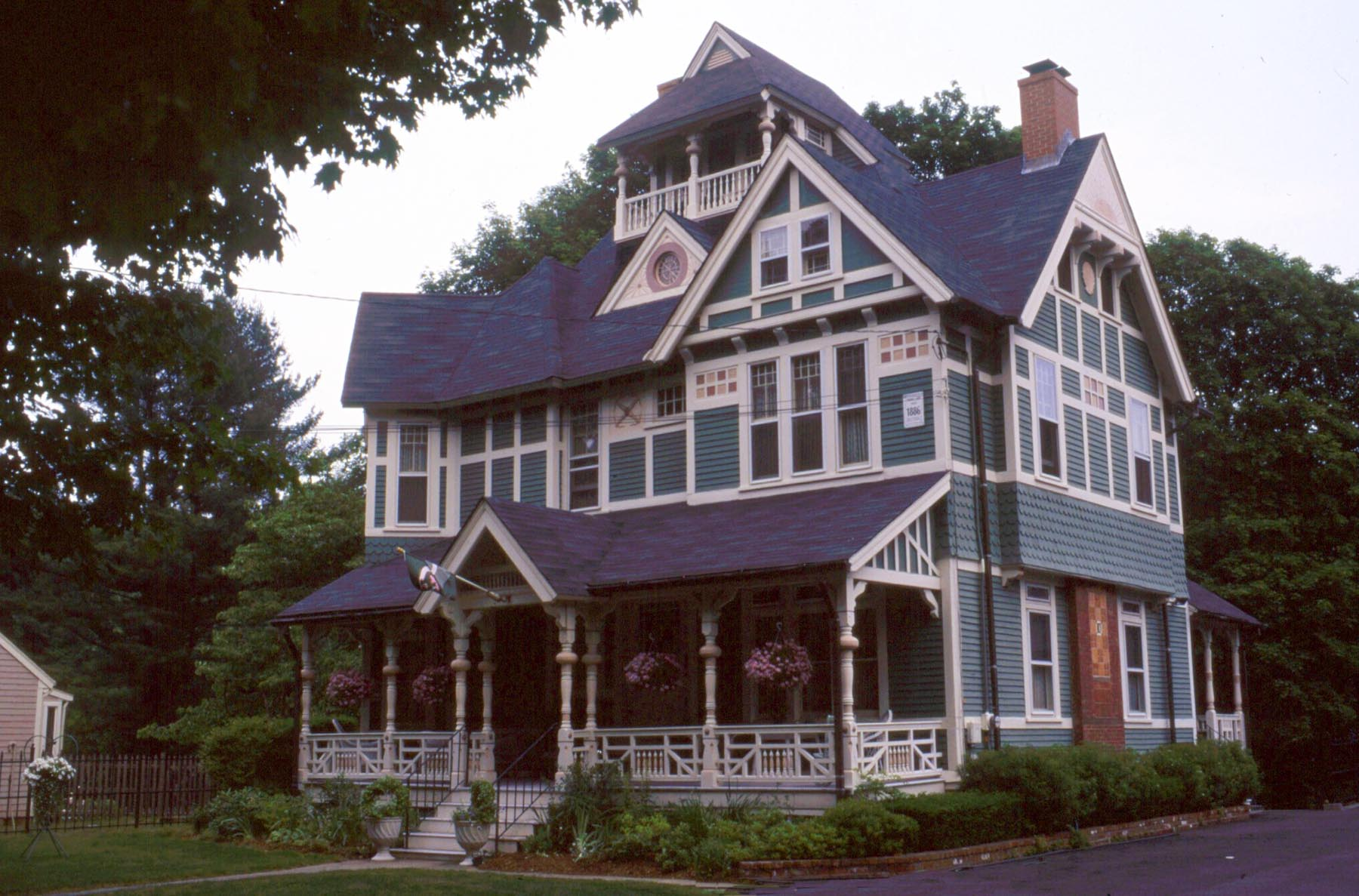 The best example of Stick Style architecture in Worcester, Massachusetts is located on Fruit Street