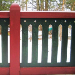 Chalet-style fence