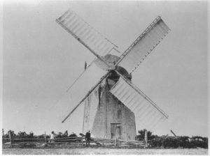Historic view of a Windmill in Newport, Rhode Island.