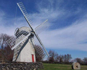 Restored windmill without sails.