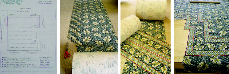 Custom carpeting from design to choices of body and border to stitching.
