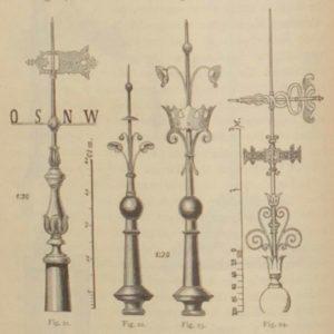 catalog samples of ornate antique lightning rods